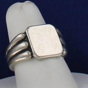 Vintage Unisex Sterling Engravable Signet RING